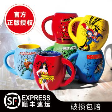 Justice League authentic Mug Sea King Cup magic nvxia water cup Superman lightning green lantern ceramic cup