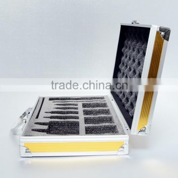 AN31 ANPHY Metal Aluminum Tool Box EVA Foam Die Cut Panel Inspection Tools Case Customize Suitcase 29.5*19.5*70cm 600g