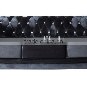 Black fabric button sofa 2015 new design luxury sofa(EOE brand)