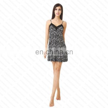 2014 ladies best selling leopard print camisole sleepwear