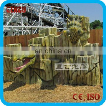 Fiberglass garden Artificial rockery for sale