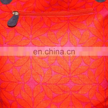 indian handmade work orange neon colour women exclusive hand bag