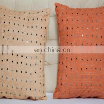 Luxury embroidery work cushion cover royal Latest design pillow cover handmade design jaipuri cushion cover