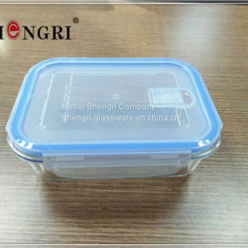 glass food storage containers with lock lid with valve