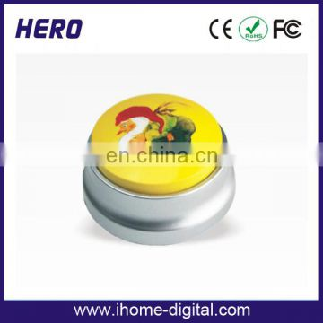 OEM logo printing heater push button switch sound press