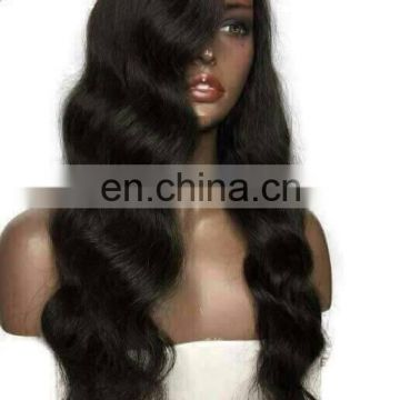 Indian Human Hair Full Lace Wig 360 lace frontal wig making sewing machine samples