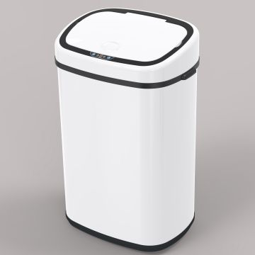 58L 68L wooden  home appliance stainless steel automatic sensor trash bin sensor automatic trash cans dustbin steel square