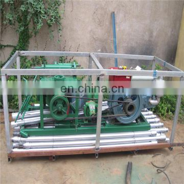 Portable deep borehole drilling rig hydraulic mini water well drilling machine