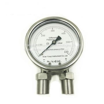 Oil SS differential pressure gauge
