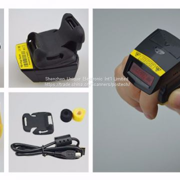 2d barcode ring scanner FS02 finger barcode reader with strong off