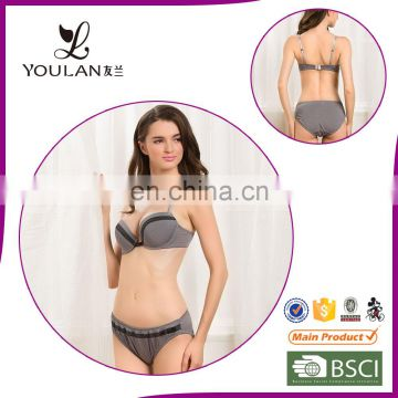 Low Price Fitness Sexy Women Push Up Bra And Underwear