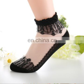 2017 fashion ladies Glass stockings cheap ankle socks ventilate ankle socks