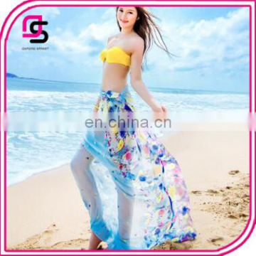 2017 Korean Spring Floral Long Scarf Ladies Sunscreen UV Shawl Summer Beach Towel