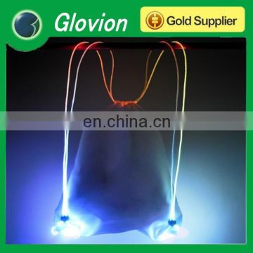 Glovion outdoor flashing bag colorful sport bags led backpack