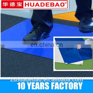 18X36 40 mic Disposable PE Cleanroom Sticky Mat for industry