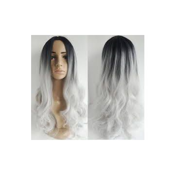 8A 9A 10A  12 -20 Inch For White Soft And Smooth Women Synthetic Hair Wigs No Damage
