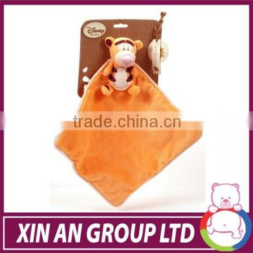 baby safe plush EN71/ASTM animal stuffed toy summer plush baby blanket/ cheap baby blanket
