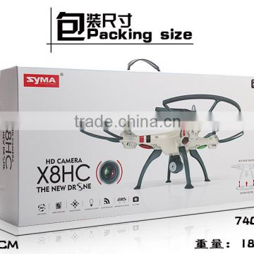 2016 Syma X8HC With 2MP HD Camera 2.4G 4CH 6Axis Altitude Hold Headless Mode RC Quadcopter RTF