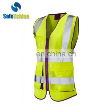 Hi vis quality reflective safety womens safety vest