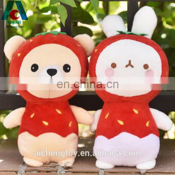 guangdong supplier handmade baby security plush stuffed toy red bear dolls