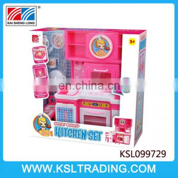 China battery operated kids kitchen toy with music and light