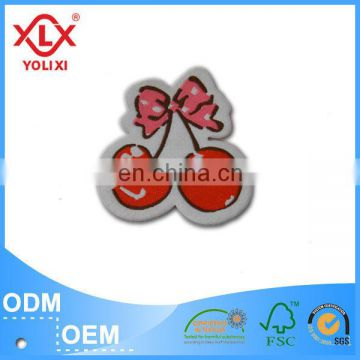 Environmental friendly woven badge for clothing