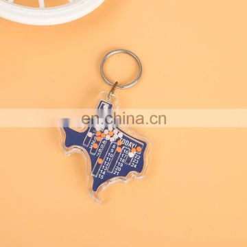 Promotional led Torch 3d laser engraving crystal custom anime acrylic keychain