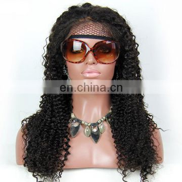 Youth Beauty Hair 2017 lace front wig brazilian hair in deep curl factory price natural looking wig brazilian virgin hair
