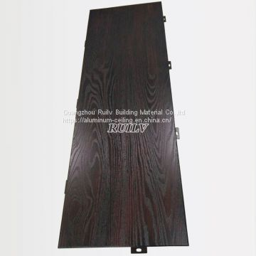 Wooden Grain Aluminum Veneer/ Wooden Grain Aluminum ceiling/ Perforated Aluminum panel for ceiling
