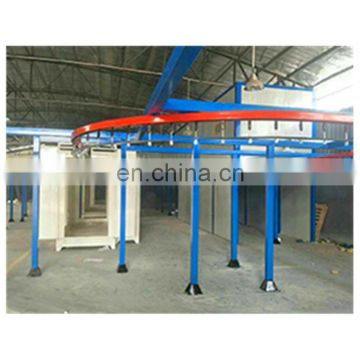 Automatic powder coating booth for aluminium profiles 66