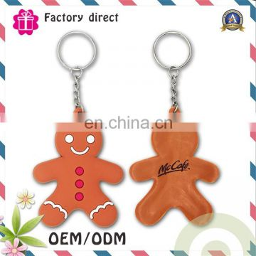 Custom 2D/3D rubber keychain/high quality soft pvc keychain