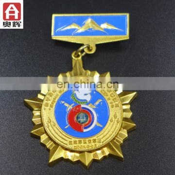 Zhongshan iron souvenir bullion wire badge