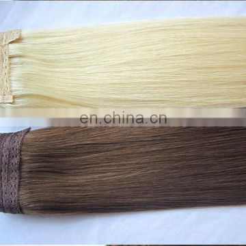 wholesale fashion virgin hair extension natural blonde remy human halo hair extension european remy human hair extension