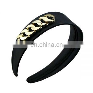 Trendy wholesale black chain fashion headband