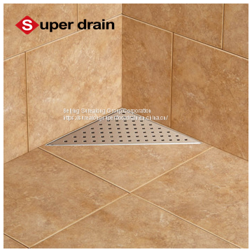 chinese factory 2018 new product lower price bathroom stainless steel triangle corner shower floor drain/shower channel
