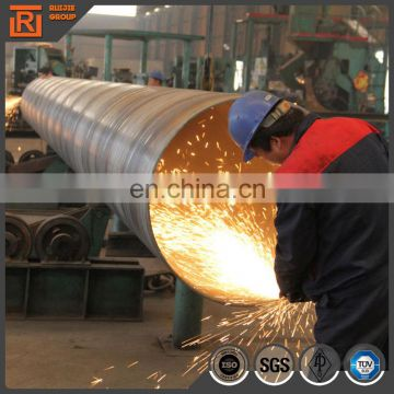 10 inch carbon spiral steel pipe welded 1200mm diameter carbon steel pipe x56 material spiral welded tube