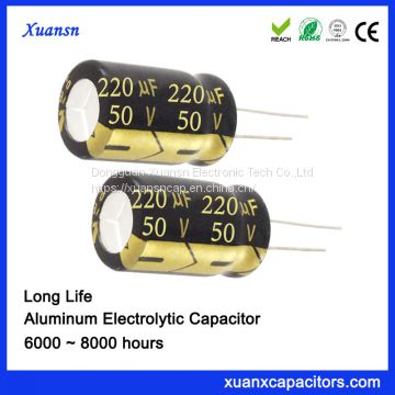 220UF50V electrolytic capacitor large inventory