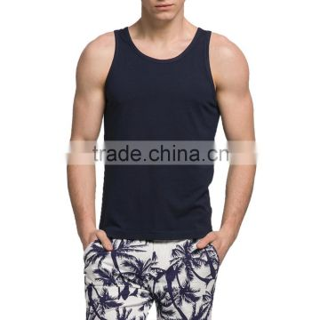 OEM Summer Multicolor Breathable Men's Sleeveless T-shirt Fsahion Singlets Bamboo Cheap Tank Top