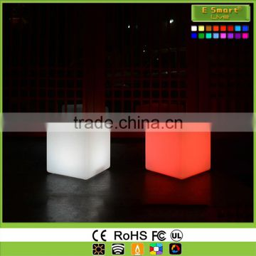 Wireless remote control rgb color mood light up led waterproof pool cube