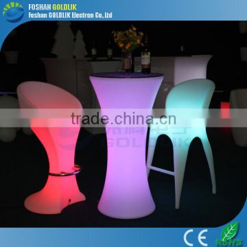 Illuminated led bar chairs for events party with 16 colors change