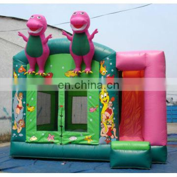 happy Inflatable colouful bouncer Slide or Jumper Slide with cartoon animals