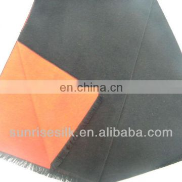 High quality hot sale checked oblong cotton neck scarf