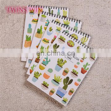 2018 Hot new products japan school stationery promotion gifts cute cactus design blank paper notebook cheap bulk