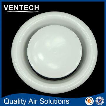 Hvac small room used round duct disc vale ceiling vent diffuser