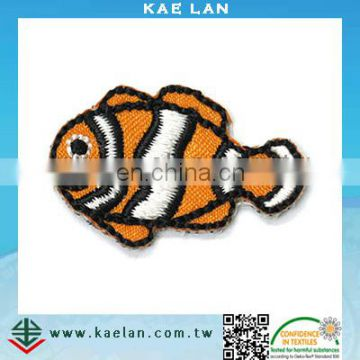 Cute fish applique patch, kids garment accessory embroidery patch
