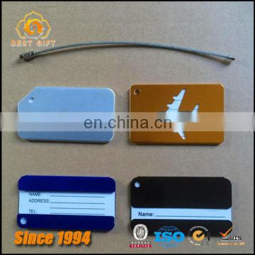 Promotional Multi-color Aluminum Aircraft Bags Luggage Tags