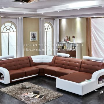 Custom made Leather sofa Corner genuine leather