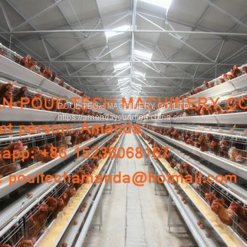 The United Arab Emirates Poultry Farming A Type Battery Layer Cage & Hen Coop & Hot Galvanized Cage in Chicken Coop