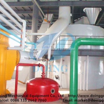 Solvent extraction process of soybean oil solvent extraction plant