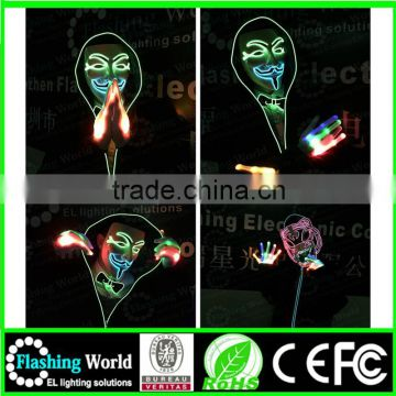 COSPLAY Interesting Vedio music actived The cheappest price glasses with led light